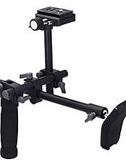 DSLR Video Camcorder Handle Shoulder Support Stabilizer Rig Quick Release Plate
