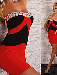Cosplay Kostýmy Uniformy Festival/Svátek Halloweenské kostýmy Červená / Bílá / Modrá / Béžová / Fuchsiová Šaty Hedvábí