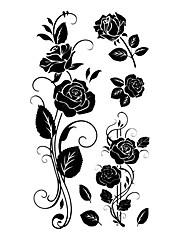 5 ks Rose Vodotěsné Dočasné tetování (10,5 cm * 20,5 cm) HM582