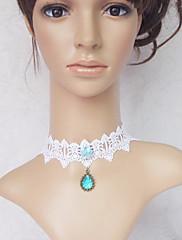 Šperky Sweet Lolita Náhrdelník Princeznovské Bílá / Modrá Lolita Příslušenství Náhrdelník Krajka Pro Dámské Krajka / Umělé drahokamy