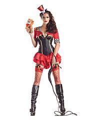 Lion Tamer Red Polyester Dámské Halloween Party Costume