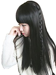 dámské dlouhé přímé syntetické stylové plné třesk paruky tepelně odolných vláknových levné cosplay strany paruka vlasy