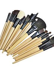 24PCS高品質なプロのウール化粧ブラシセット