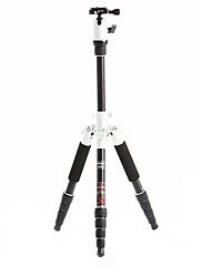 デジタル一眼レフカメラ用のFotopro X4i-E屋外トラベルアルミニウム - マグネシウム合金の伸縮三脚(スリヴァー&ブラック)