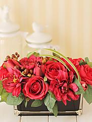 7.5 'H Vivid Arreglo floral (rojo y rectangular)