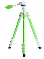 カメラビデオカメラデジタル一眼レフのDVの場合Fotopro S3のアルミニウム三脚+ 1月4日ボールヘッド(グリーン)