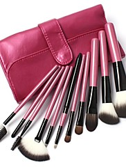 11 ks Makeup Goat Hair Make up Brush Kit in Pink Lattice kožená taška