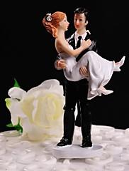 ケーキトッパー 非パーソナライズ 夫妻 樹脂 結婚式 ホワイト / ブラック フローラルテーマ / クラシックテーマ ギフトボックス