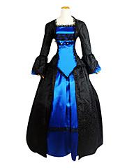 Jednodílné/Šaty Gothic Lolita Princeznovské Cosplay Lolita šaty Barevné bloky Dlouhé rukávy Lolita Šaty Pro Krajka Polyester