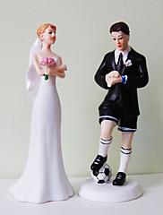 primeros de la torta del novio de fútbol& novia exasperado torta