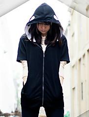 Inspirovaný Kagerou Project Kano Shuuya Video Hra Cosplay kostýmy Cosplay šaty Jednobarevné Czarny Dlouhé rukávy Kabát / Spodní prádlo