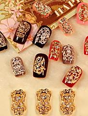 5ks Zircon Diamond Studded Nail Art Dekorace bohatství And Honour (Smíšený vzor)