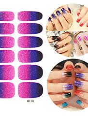 28PCS Glitter Gradient Ramp Nail Art Samolepky M Series No.110