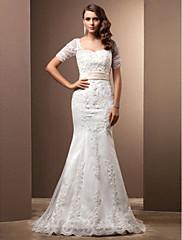Lanting Bride® Mořská panna Drobná / Nadměrné velikosti Svatební šaty - Klasické & nadčasové / Elegantní & luxusníRetro / Barevné