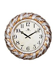 """19.2 """"H Styl moderní květinové Reliéfní Polyresin Nástěnné hodiny"""