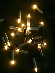 20-vedl solární vedl řetězec pohádky při svíčkách mas venkovní vánoční řetězec světlo zahradní lampy