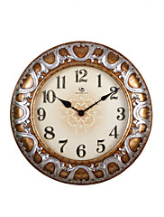 """22.8 """"H Vintage Floral Pattern Reliéfní Polyresin Nástěnné hodiny"""
