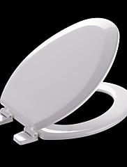 Legno Milano ® standard americani allungata smussato Bianco Modellato Legno Toilet Seat