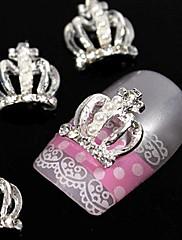 10ks móda koruna 3d kamínky slitina nail art dekorace