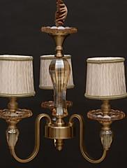 モダンなヨーロッパスタイルのヴィンテージクリスタルのシャンデリア3灯