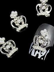 10ks 3d královnu o korunu s perleťovými kamínky slitiny nail art dekorace