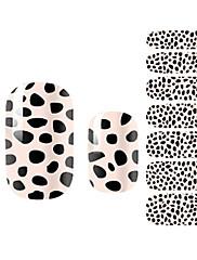 yemannvyou®14pcs růžový leopard módní nail art samolepky