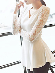 susan.q女性susan.q女性の長い袖のレースのシャツ