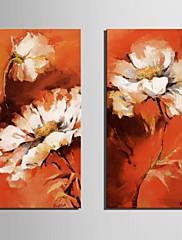 キャンバス地アートの夢の花が2個セット