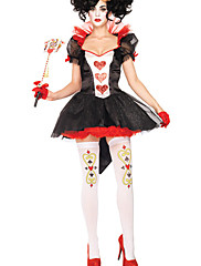 Alice Poker Queen Red Chiffon Women's Hallowoon Costume