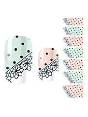 yemannvyou®14pcs krajka místo módní nail art samolepky