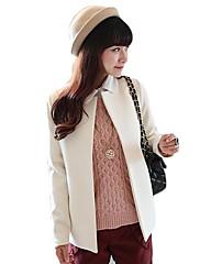 Women's Solid Color Woolen Coat(More Colors)