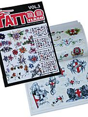 Cvjetni uzorak Serie tetovaža knjiga