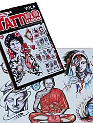 Ljudski portret tetovaža uzorak knjiga