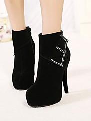 女性の靴は、丸いつま先スチレットヒールアンクルブーツより多くの色が利用可能shimandi