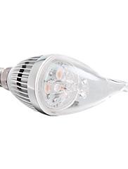 E14 3W 3 ハイパワーLED 270 LM 温白色 明るさ調整 LEDキャンドルライト 交流220から240 V