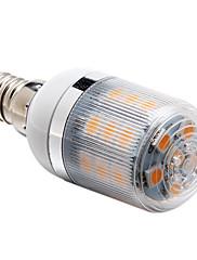 E14 3ワット27x5050smd 270lm 3000  -  3500Kウォーム白色光(220-240V)トウモロコシの電球を導いた