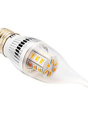 daiwl E27 5w 24xsmd 5730 350lm 2500-3500k teplé bílé světlo LED svíčkové žárovky shapeca (AC 220)