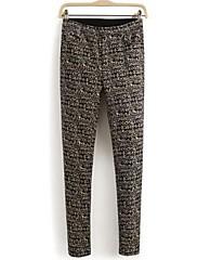 Iced ™ Dámské elastické bavlněné kalhoty vintage