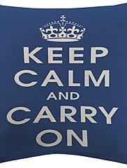 3のセット綿/リネン装飾的な枕カバー」は冷静を保つ」