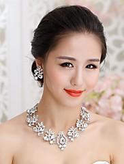 Belle parure de bijoux en strass