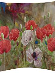 3美しい水彩花柄のベルベットの装飾的な枕カバーのセット