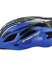 basecamp®ブランドBC-012 18の通気孔一体成形超軽量調節可能な昆虫防止ネットサイクリングヘルメットブルー+黒