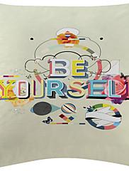 2のセット「自分も」と幾何学模様のベルベットの装飾的な枕カバー