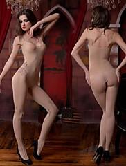 女性のセクシーなオープンクロッチカバーオールナイトウェア