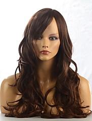 キャップレス、高品質の合成ストレート茶色のFashionalの髪の毛のかつら