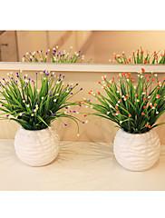 moderní bydlení hvězda tráva umělé kytice, plast