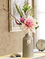 h16.5 'artística arreglo floral de flores de simulación europeo artículos de tapicería traje florero