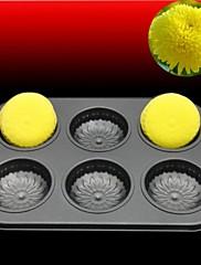 ケーキパンタルト用耐熱皿高品質炭素鋼6穴の菊型のベーキング金型