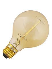 1個 YouOKLight E26/E27 40W 1 COB 400 LM 温白色 B edison ビンテージ LEDボール型電球 交流220から240 / AC 110-130 V