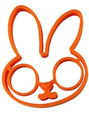 Tvar králík vejce kroužek pro snídani, vejce forma vaření nářadí, silikon